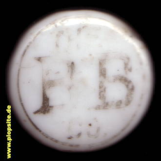 Picture of a ceramic bottle cap from: Ginger Beer, The H. B. Co. (Hudson's Bay Company), Toronto, Canada