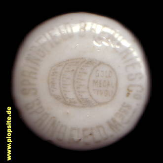 Picture of a ceramic bottle cap from: Breweries Co., Springfield, MA, USA